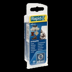 Oczka 8mm 25 szt Rapid 5000411