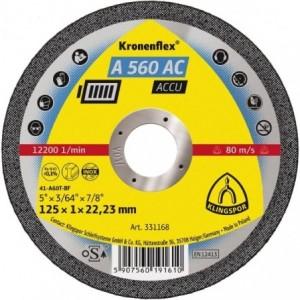 Tarcza 125x1x22 metal/inox Klingspor A 560 AC 331168 25 szt