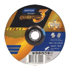 Tarcza 180x7x22 metal/inox Norton Quantum 3 66253371364 10 szt