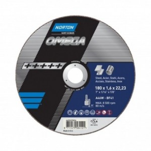 Tarcza 230x7x22 metal/inox Norton Omega 66253370050 10 szt