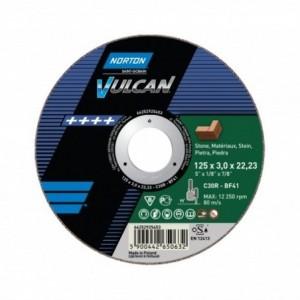 Tarcza 125x6x22 beton Norton Vulcan 66252925534 10 szt