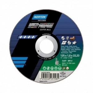 Tarcza 125x1.6x22 metal Norton Multimaterial 66252828952 25 szt