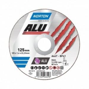Tarcza 125x1x22 aluminium Norton Alu 66252828237 25 szt