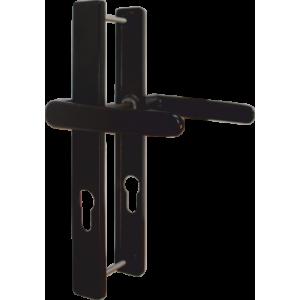 Klamka 72 WB z podłużnym szyldem Wisberg D1 kolor czarny
