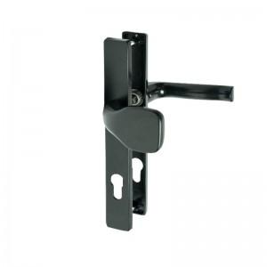 Klamko-gałka 72 WB prawa z podłużnym szyldem ST-27 kolor czarny