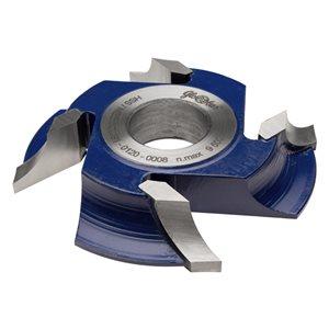 Frez HSS nasadzany z dzieloną krawędzią skrawającą 0160x30x23/4z lewy R18 GLOBUS