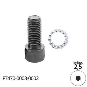 Śruba mocująca - śruba imbusowa M3x8 - do frezów trzpieniowych FT507 GLOBUS