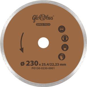 Piła/ściernica GRES-TECH 0230x22,23 do pilarek szybkoobrotowych (m.in. kątówek) GLOBUS