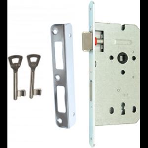 Zamek do drzwi 90/50 wpuszczany na klucz Gerda ZW 100