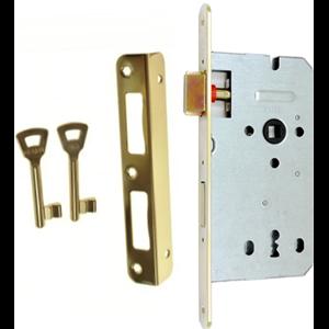 Zamek do drzwi 72/60 wpuszczany na klucz Gerda ZW 100