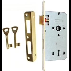 Zamek do drzwi 60/50 wpuszczany na klucz Gerda ZW 100