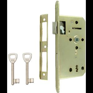 Zamek do drzwi 60/50 wpuszczany na klucz Lob Z65Z