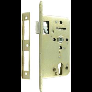 Zamek do drzwi 60/50 wpuszczany na wkładkę bębenkową Lob Z65B