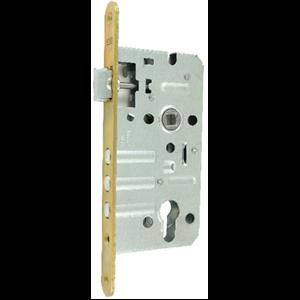 Zamek do drzwi 72/50 wpuszczany na wkładkę bębenkową wersja stolarska Lob ZT75B