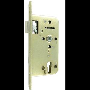 Zamek do drzwi 72/55 wpuszczany na wkładkę bębenkową wersja stolarska Lob Z755B