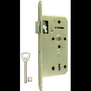 Zamek do drzwi 72/50 wpuszczany na klucz wersja stolarska Lob Z755Z