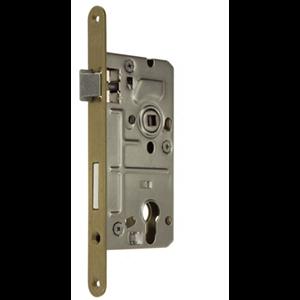 Zamek do drzwi 90/50 wpuszczany na wkładkę bębenkową wersja stolarska Metalplast Częstochowa ECONOMIC