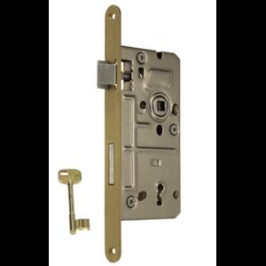 Zamek do drzwi 72/50 wpuszczany na klucz wersja stolarska Metalplast Częstochowa 18x210 lewy