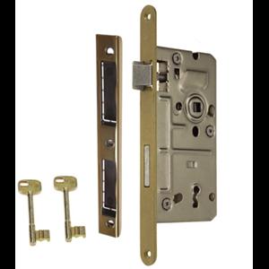 Zamek do drzwi 90/50 wpuszczany na klucz Metalplast Częstochowa  lewy