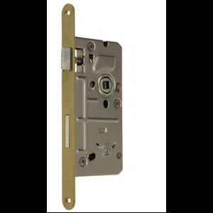Zamek do drzwi 72/50 wpuszczany łazienkowy wersja stolarska Metalplast Częstochowa ECONOMIC