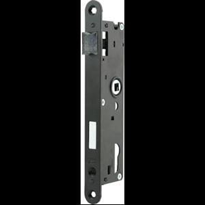 Zamek do drzwi 72/34 wpuszczany na wkładkę bębenkową Metalplast Częstochowa ZZB-1 lewy