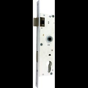 Zamek do drzwi 72/34 wpuszczany na wkładkę bębenkową Metalplast Częstochowa ZZB-10