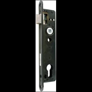 Zamek do drzwi 90/22 wpuszczany na wkładkę bębenkową Metalplast Częstochowa ZZB-3 lewy