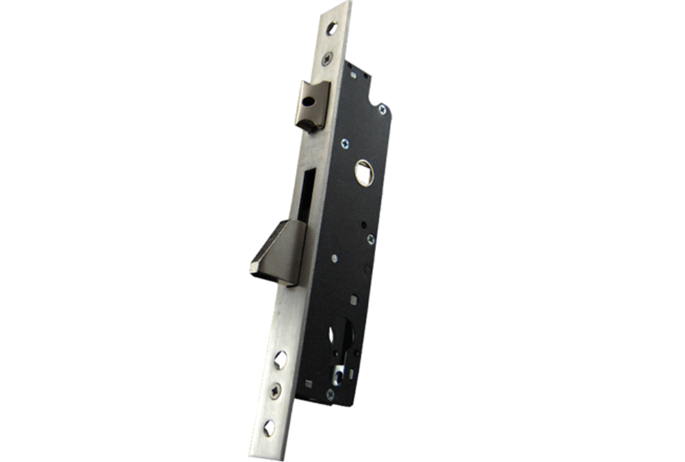 Zamek do drzwi 92/35 wpuszczany na wkładkę bębenkową rygiel opadający GNS 7716