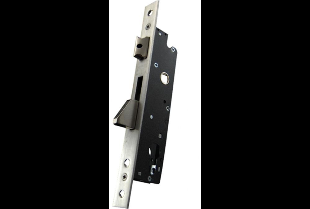 Zamek do drzwi 92/30 wpuszczany na wkładkę bębenkową rygiel opadający GNS 7716
