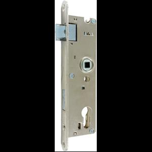 Zamek do drzwi 72/34 wpuszczany na wkładkę bębenkową Metalplast Częstochowa ZZB-1