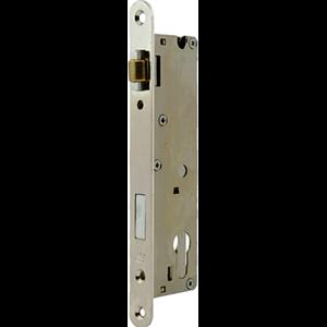 Zamek do drzwi wpuszczany na wkładkę bębenkową rolkowy Metalplast Częstochowa RZB-4