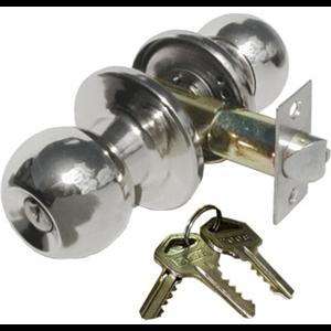 Zamek do drzwi wpuszczany z kluczem w gałce nikiel