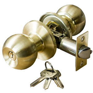 Zamek do drzwi wpuszczany z kluczem w gałce mosiądz/mat