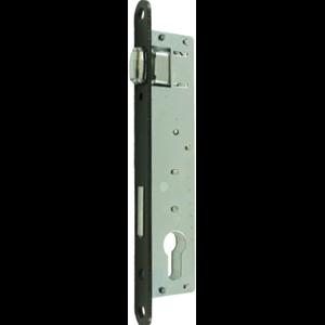Zamek do drzwi wpuszczany na wkładkę bębenkową rolkowy Jania Z077