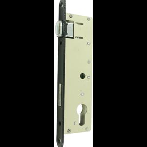 Zamek do drzwi wpuszczany na wkładkę bębenkową rolkowy Jania Z223
