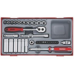 35-elementowy Zestawy kluczy nasadowych. Z chwytem 1/4'' TT1435 TengTools 0349-0109