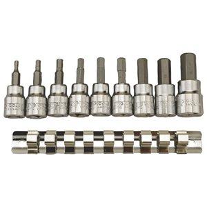 Zestaw kluczy nasadowych 3/8'' do gniazd sześciokątnych metrycznych TengTools 6883-0108