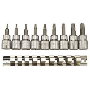 Zestaw kluczy nasadowych 3/8'' do gniazd TPX Torx 9-cz. TengTools 6884-0107