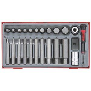 Zestaw 20 różnych grotów sześciokątnych TengTools 6885-0106