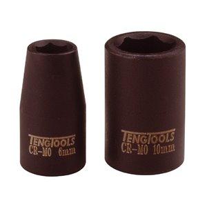 Nasadka udarowa 10mm cienkościenna z chwytem 1/4'' TengTools 13243-0406