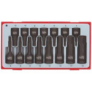 15-elementowy zestaw nasadek maszynowych trzpieniowych sześciokątnych TT9015HX TengTools 15141-0107