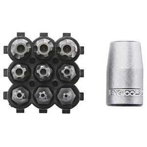 Zestaw nasadka + groty TORX z otworem TengTools 16091-0105