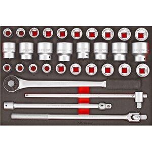 32-elementowy zestawy kluczy nasadowych z chwytem 3/4'' TTESK32 nr kat: TengTools 16173-0106
