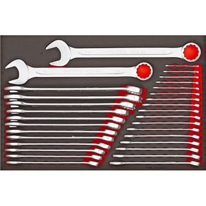 31-elementowy zestaw kluczy płasko-oczkowych TTESP31 TengTools 16175-0104