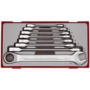 8-elementowy Zestaw kluczy płasko-oczkowych zapadkowych TT6508RS TengTools 16672-0102