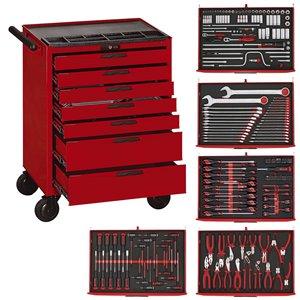 Wózek warsztatowy narzędziowy 280-elem. TCMME09C TengTools 16680-0102