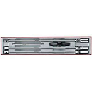 Zestaw bardzo długich kluczy do świec zapłonowych 3/8'' z pokrętłem poprzecznym TTXTB05 TengTools 17880-1007
