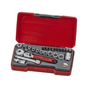 Zestaw narzędzi nasadkowych z chwytem □ 1/4'' T1424S TengTools 18690-1005