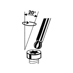Klucz TORX ze stali chromowo-molibdenowej T9 null TengTools 23180-0202