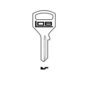 LOB Klucz surowy do zamka meblowego ZMB4